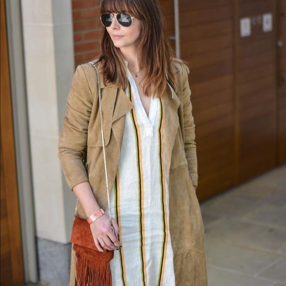 H&M Linen Long Sleeve Shirtdress Tunic Hi Low 4